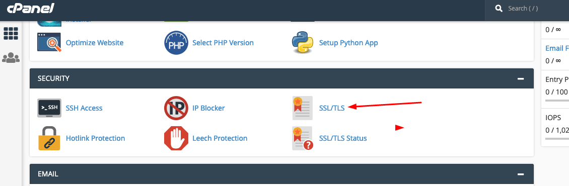 Install SSL certificate on cPanel
