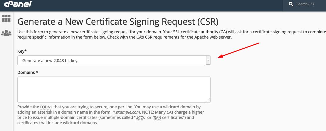 Generate Certificate Signing Request