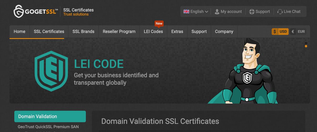 Go GET SSL service provider