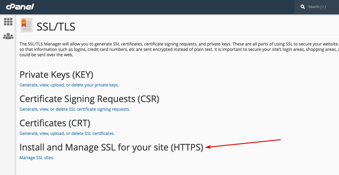 Install SSL on cPanel