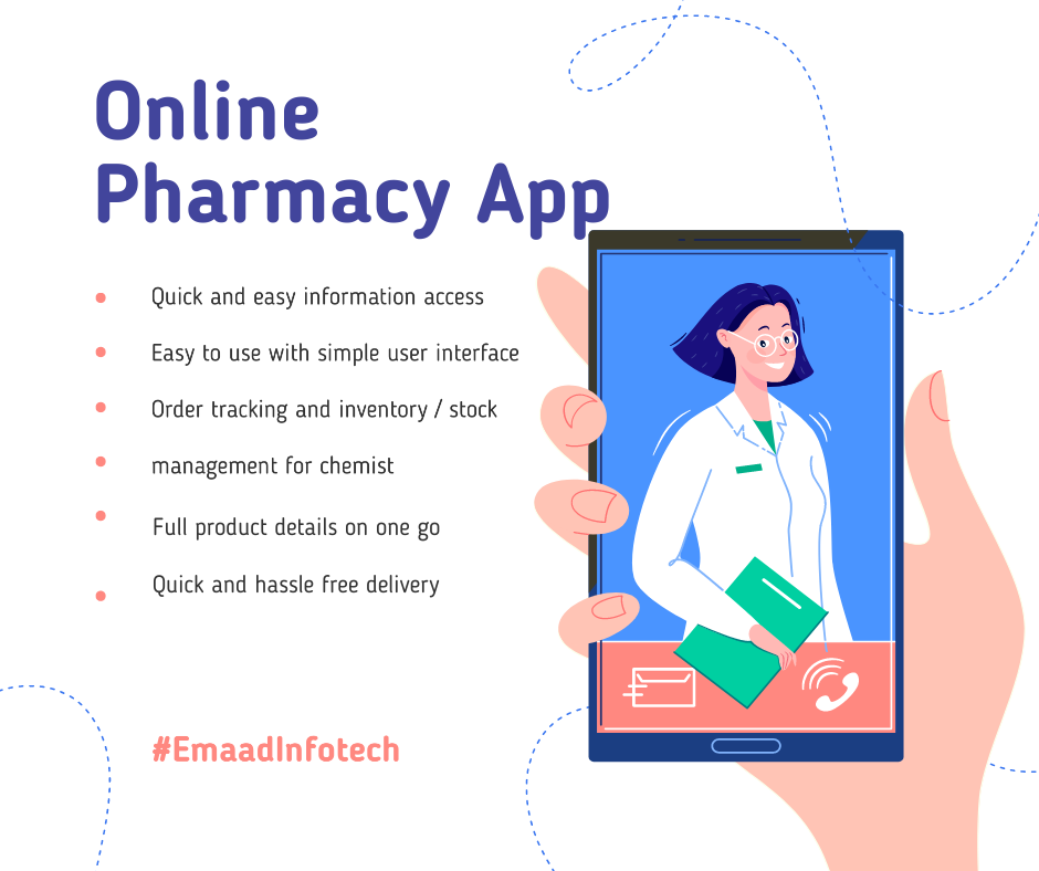 How online pharmacy app helps, chemist, to reach large audiences